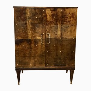 Large Cabinet with Refrigerator by Aldo Tura, 1960s