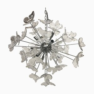 Murano Glass Butterfly Chandelier Sputnik from Italian Light Design
