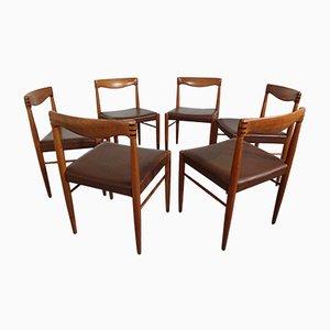 Dänische Esszimmerstühle aus Teak von H.W. Klein für Bramin, 1960er, 6er Set