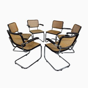 S64 & S32 Armchairs by Marcel Breuer for Thonet, 1982, Set of 6