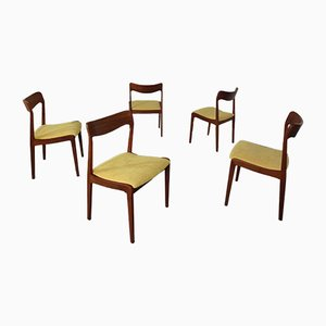 Danish Teak Dining Chairs, 1960s, Set of 5