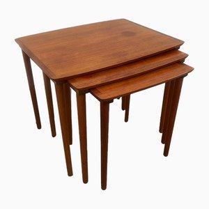 Tables Gigognes en Teck de Møbelintarsia, années 60