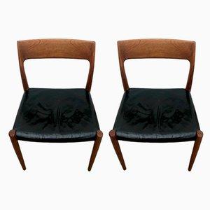 77 Esszimmerstühle von Niels Otto Møller für J.L. Møllers, 1960er, 2er Set