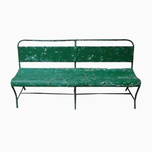 Green Metal Bench, 1930s