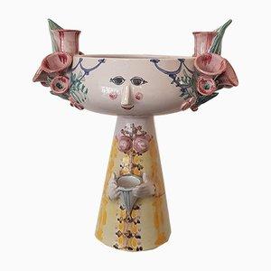 Handbemalte Vintage Schale oder Vase von Bjørn Wiinblad