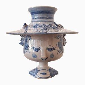 Vaso decorativo in ceramica di Bjørn Wiinblad per Wiinblad, 1981
