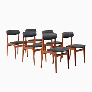 Mid-Century Danish Teak Dining Chairs, Set of 6