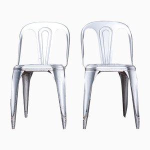 Esszimmerstühle aus Metall von Antony Antony, 1950er, 2er Set