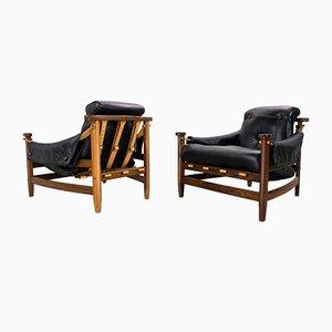 Fauteuils en Palissandre par Jean Gillon pour Italma Wood Art, années 60, Set de 2