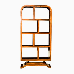 Art Deco French Walnut Bookcase, 1930s