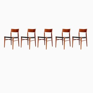 351/3 Dining Chairs by Georg Leowald for Wilkhahn, 1960s, Set of 5
