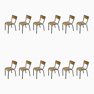 Chaises de Salle à Manger Anciennes, Set de 12