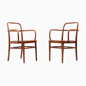 Vintage Armchairs by Gustav Adolf Schneck for Thonet, Set of 2
