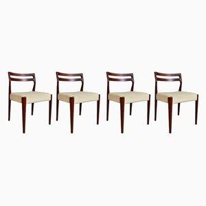 Esszimmerstühle aus Teak, 1970er, 4er Set