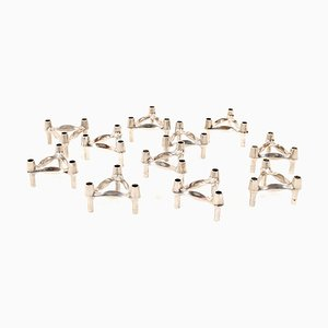 Mid-Century Candle Holders by Fritz Nagel for BMF, Set of 11