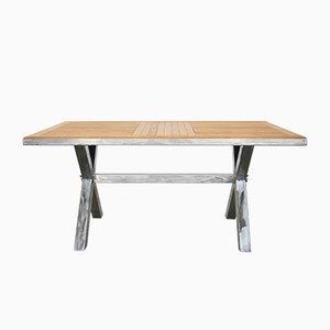 Tavolo da pranzo in acciaio e quercia di Atelier Borella