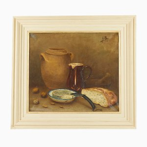 Antique French Oil on Canvas
