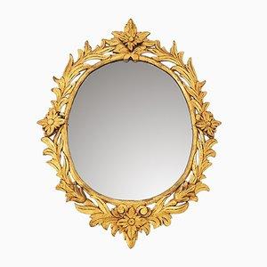 Spiegel mit Rahmen aus Blattgold & Holz, 1920er