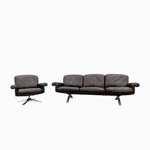 Butaca DS 31 y sofá de de Sede, años 70. Juego de 2