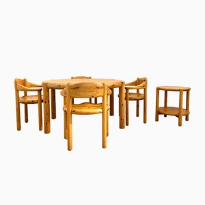 Dining Chairs & Table Set by Rainer Daumiller for Hirtshals Sawmill, 1980s