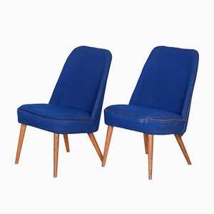 Ash Club Chairs, 1960s, Set of 2