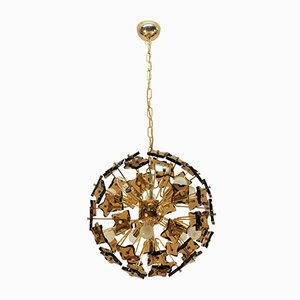 Brass and Glass Sputnik Ceiling Lamp, 1960s