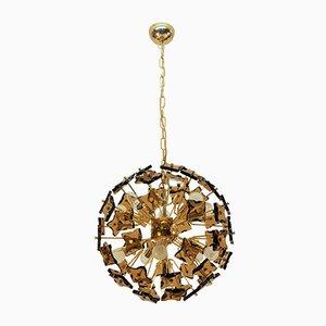 Brass and Glass Sputnik Ceiling Lamp, 1960s