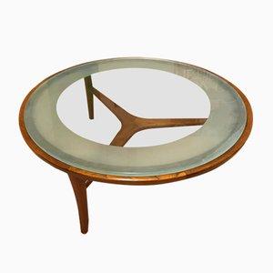 Mid-Century Couchtisch aus Glas von Autre, 1960er