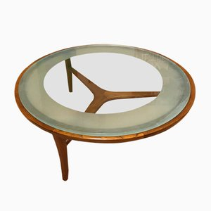 Mid-Century Glass Coffee Table by Autre, 1960s