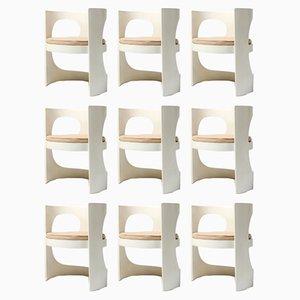 Moderne skandinavische Armlehnstühle von Arne Jacobsen für Asko, 1970er, 9er Set
