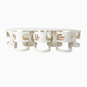 Juego de mesa de comedor y sillas era espacial grande de Arne Jacobsen para Asko, 1969