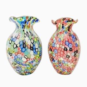 Grün-blaue Vase aus Muranoglas von Fratelli Toso, 1960er