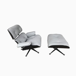 Leather Lounge Chair & Ottoman by Charles & Ray Eames for Mobilier International, 1970s