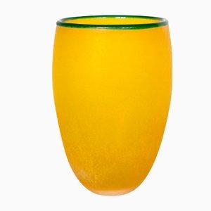 Jarrón de cristal de Murano de Franco Moretti, años 80