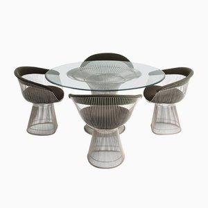 Tavolo da pranzo e quattro sedie di Warren Platner per Knoll, anni '60