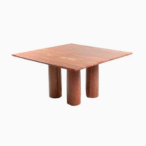 Tavolo da pranzo rosso di Mario Bellini per Cassina, anni '70