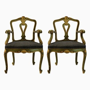 Antique Venetian Armchairs, Set of 2