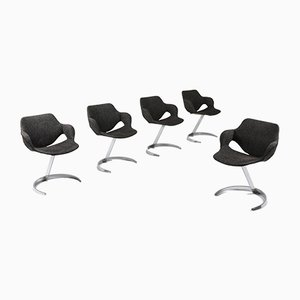 Vintage Desk Chairs by Boris Tabacoff for Mobilier Modulaire Moderne, 1960s, Set of 5
