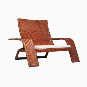 Leather Lounge Chair by Marzio Cecchi for Studio Most, 1970s