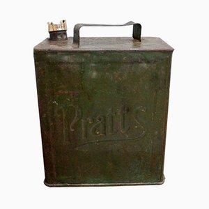 Antique Metal Petrol Can by Pratt's for Pratt's