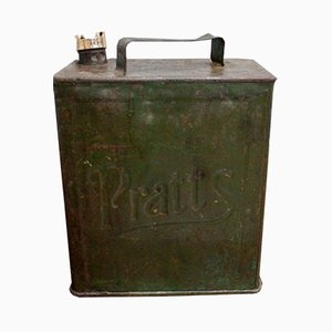 Antique Metal Petrol Can by Pratt's