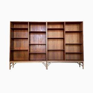 Teak & Oak Bookcases by Børge Mogensen for FDB, 1960s, Set of 2