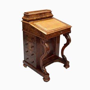 Antiker Schreibtisch aus Nusswurzelholz von Herringson & Clark