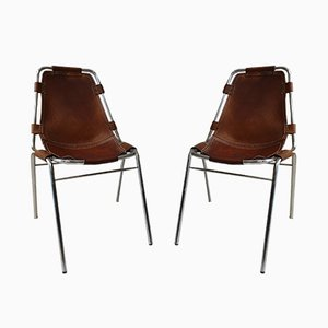 Mid-Century Side Chairs by Charlotte Perriand, Set of 2