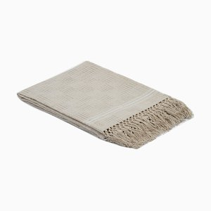 Cream Artisanal Linen Tablecloth by Ayle