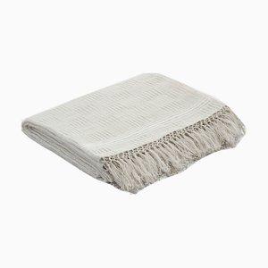 Mantel blanco artesanal de lino de Ayle
