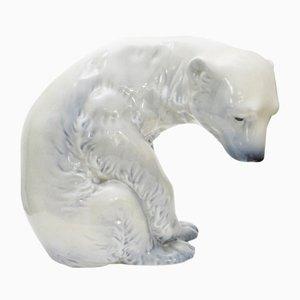 Dekorative Eisbärfigur von Johan Sirnes für Porsgrund, 1970er