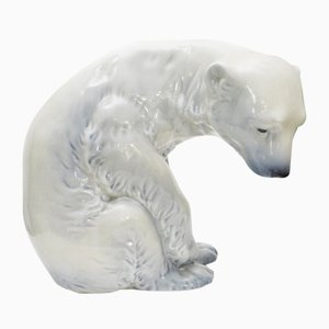 Polar Bear Decorative by Johan Sirnes for Porsgrund, 1970s