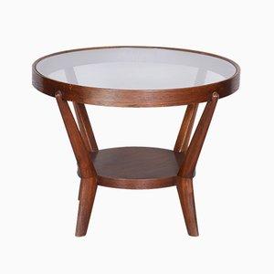 Oak & Glass Coffee Table by Kozelka & Kropáček, 1940s