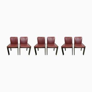 Italienische Space Age Esszimmerstühle, 1970er, 6er Set